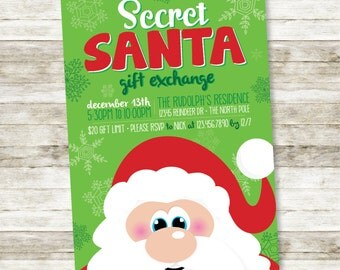 Secret Santa Gift Exchange DIGITAL invite