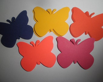 "50 Large ""Wildflower""Butterfly Die Cuts Scrapbooking Card Making Embellishments Weddings"