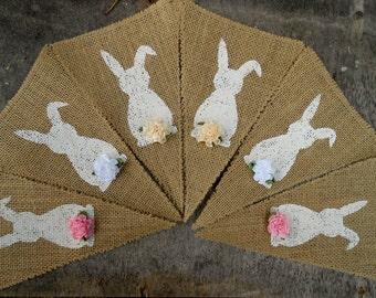 Easter Decor Easter Banner Rabbit Bunting Rabbit Garland Easter Banner Easter Garland Easter Bunny Banner Bunny Bunting Bunny Garland