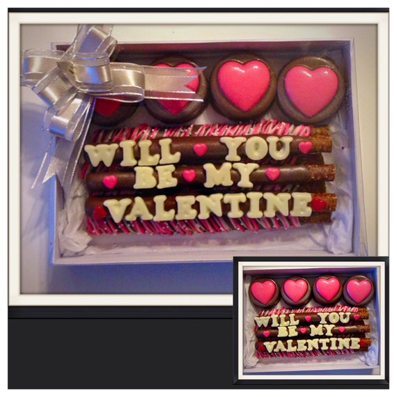 Valentine's Day , Be my Valentine Chocolate Covered Oreo Gift box - Valentine's Day Chocolate Gift