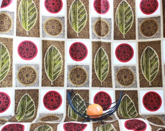 Vintage cotton fabric by the yard deco fabric by the yard