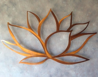Lotus Flower Metal Wall Art - Lotus Metal Art - Home Decor - Metal Art - Wall Art - Large Metal Wall Art - Brown Wall Art - Metal Wall Decor