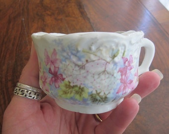 Antique Shaving Mug, Painted with Violets and Lilac