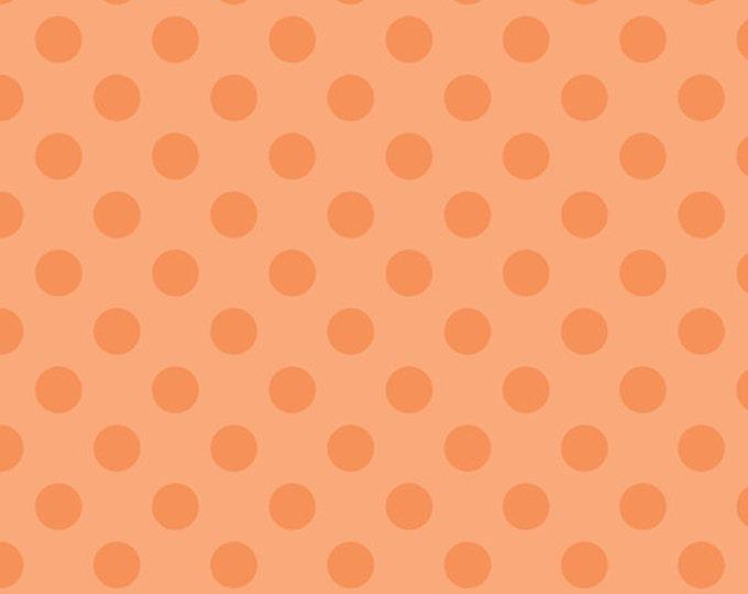 Half Yard Medium Dots - Tone on Tone in Orange - Cotton Quilt Fabric - C430-60 - RBD Designers for Riley Blake Designs (W2267)