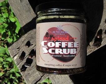 Sugar Scrub /// Spiced Coffee Energizing Scrub /// Organic skincare, Exfoliating, Aromatherapy, Moisturizing