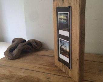 Wood photo block - photo gift ideas - unique home decor - wood picture frame - wood photo frame - beach photos - rustic photo frame - ooak