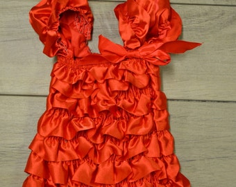 Red Christmas Dress w/ matching headband- Infant & Toddler Christmas Dress