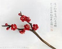 Chinese style Hair stick,wood hair stick,flower hair stick,plum blossom
