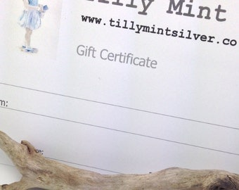 Tilly Mint Silver Gift Certificate
