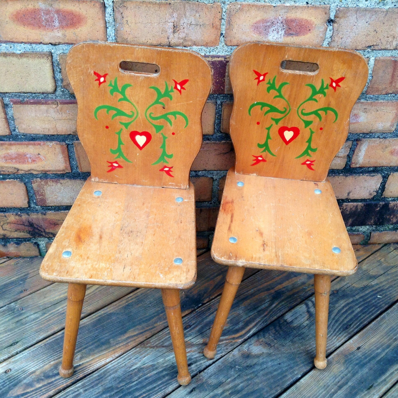 Very Rare Pair Of Solid Wood Pennsylvania Dutch Folk