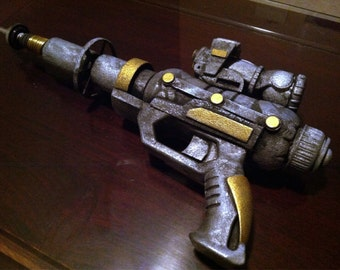 50's Style Sci-Fi Ray Gun / 3D Mixed Media Sculpture