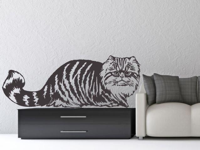 Wall Sticker PERSIAN CAT Wall Decal For Living Room Vinyl - Custom vinyl wall decals cats