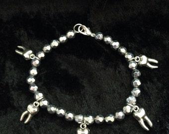 Silver teeth bracelet