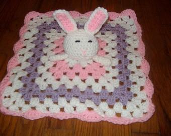 Crochet baby blanket Crochet Baby Bunny lovey blanket, Crochet Baby Blanket, Lap Blanket, Crochet lovey blankie