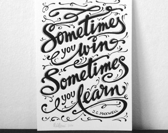 TYPOGRAPHIC QUOTES - Smaller Hand-made lettering quotes - Made To Order