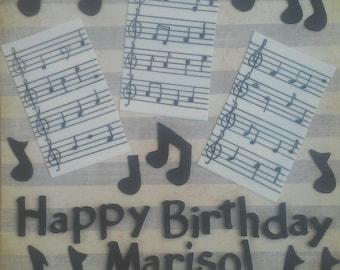 Music Fondant Cake Set