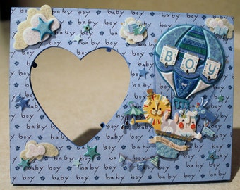 Baby boy/ Infant/ Blue/ New Born Boy/Child/ Picture frame