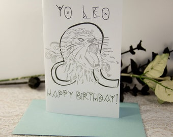Yo Astrology Birthday Card: Yo Leo