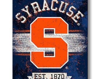 Syracuse Orange Canvas Wall Art - Collegiate Licensed