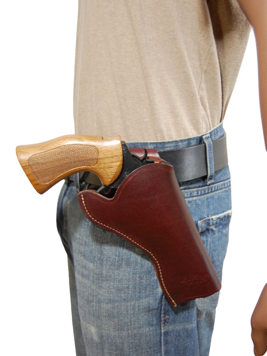 New burgundy leather cross draw gun holster for by barsonyholsters