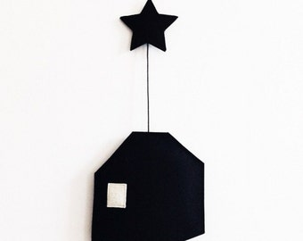 Happy House Felt Hanger