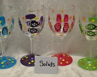 12.5 oz. Flip flop wine glasses, set of 4