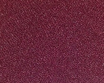"""Burgundy Crepe Fabric - 60"""", By The Yard"""