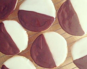Black & White Cookies  - 1 Dozen