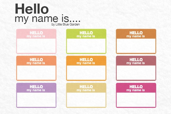 Hello My Name Is Printable Pictures To Pin On Pinterest