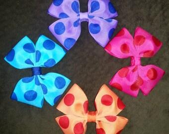 Polka Dot Handmade Basic Bow