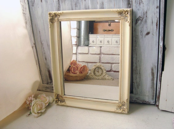 antique cream ornate mirror shabby chic cream by. Black Bedroom Furniture Sets. Home Design Ideas
