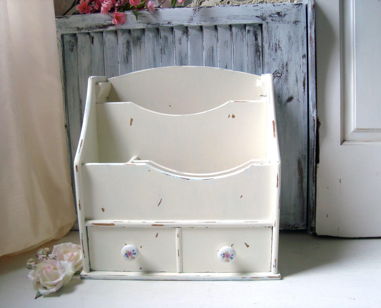 creme schreibtisch organisator shabby chic bek mmert mail. Black Bedroom Furniture Sets. Home Design Ideas