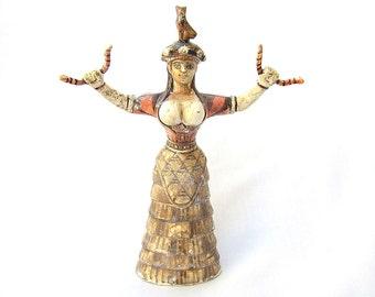 Snake Goddess Statue  - Daughter -  , Greek Minoan Statue, Ancient Greece Statue