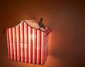 Pink Cage Lamp