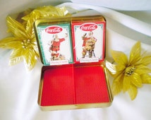 Nostalgia Vintage Santa Clause Coca Cola Playing Cards 1994 Paper Games