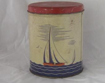 Rustic Saliboat Tin