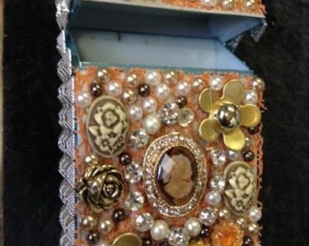 Victorian Cameo Cigarette Case  ,Cigarette Pack Holder