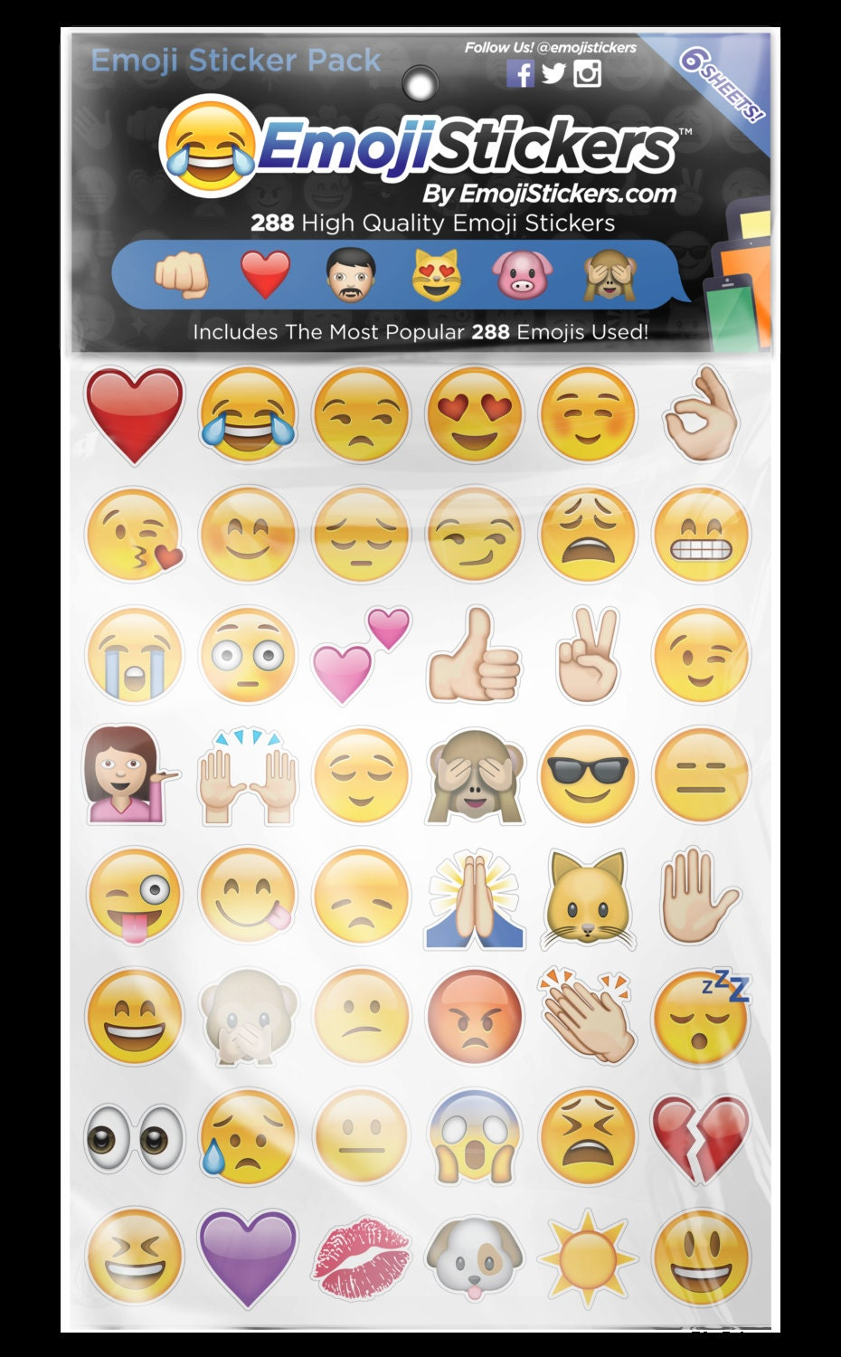 Iphone Emoji Sticker Pack 288 Of The Most Popular By