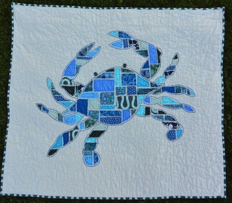 Crab Quilt Pattern Jimmy Raw Edge Applique 48 X