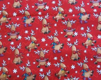 "1/2 yard of 100% cotton ""Rudolph"" fabric"