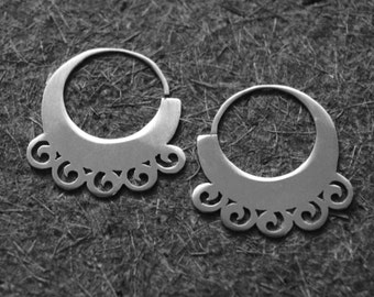 "Silver rings ""Borlas"" // Handmade earrings //  Lightweight earrings// Gotic style earrings// Exclusive earrings."