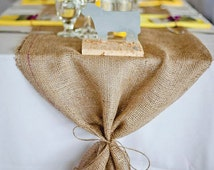 Natural Burlap Runner MADE TO ORDER. Rustic Chic Decoration for Thanksgiving Dinner, Fall Festival, Wedding, Bridal Shower