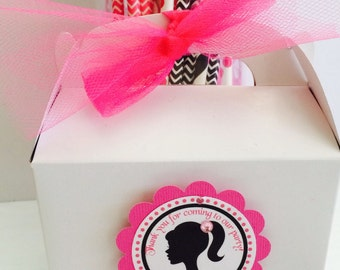 Barbie Party Tags, Barbie favor tags . 12 ready to ship