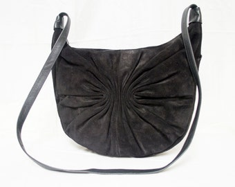 Etra,Black Leather purse,bag, Shoulder Bag