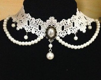 Handmade Vintage Wedding Necklace, Bridal Necklace