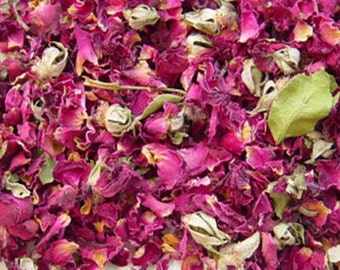 4 Cups Rose Petals with Buds, Red (2.9 oz.) ***FREE SHIPPING***