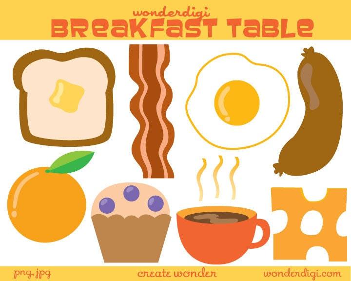 Breakfast Food Clip Art Food clip art Breakfast Clipart