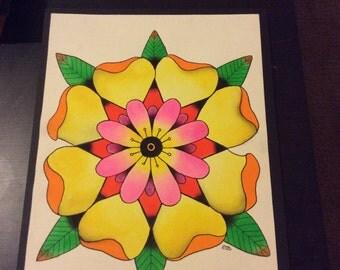 Symmetrical Mandala Flower