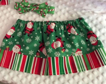 Christmas Skirt - Sizes 3 months to 10 Girls