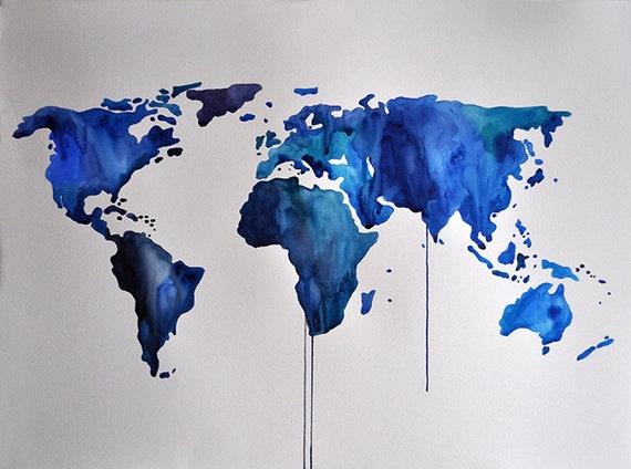 original abstract world map - photo #17